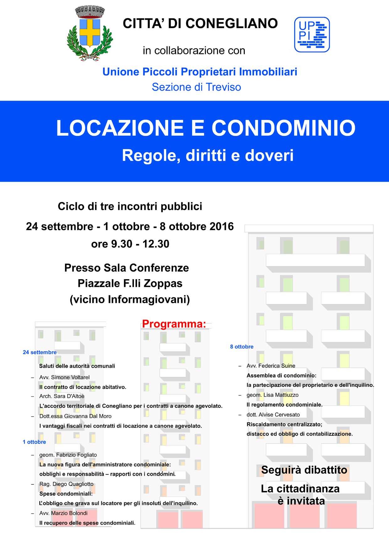 Uppi treviso locazione e condominio regole diritti e for Regole di condominio